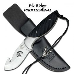 "Elk Ridge PROFESSIONAL EP-003BK FIXED BLADE KNIFE 7"" OVERALL"