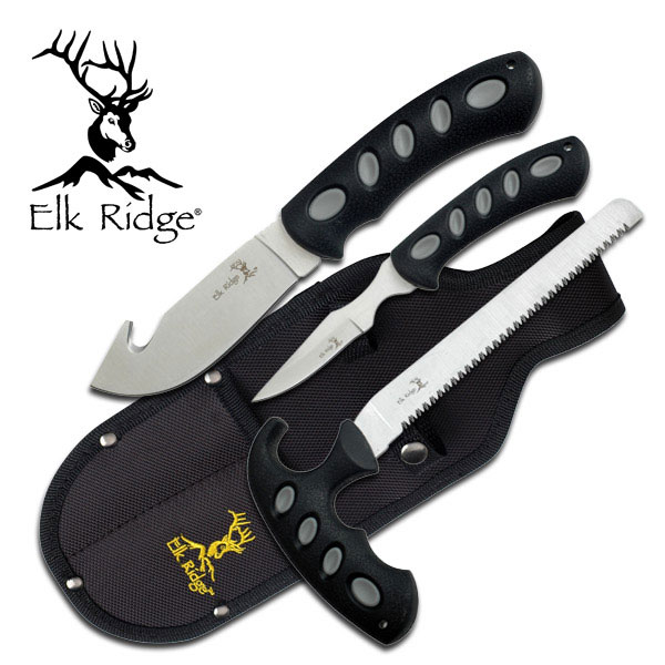 Elk Ridge ER-252 HUNTING KNIFE SET 3 PIECE SET