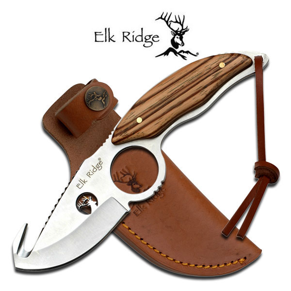 "Elk Ridge ER-529WD FIXED BLADE KNIFE 7.7"" OVERALL"