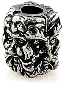 Green Man Bead Pewter