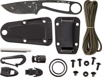 ESEE Izula Black Engraved With Ant kit