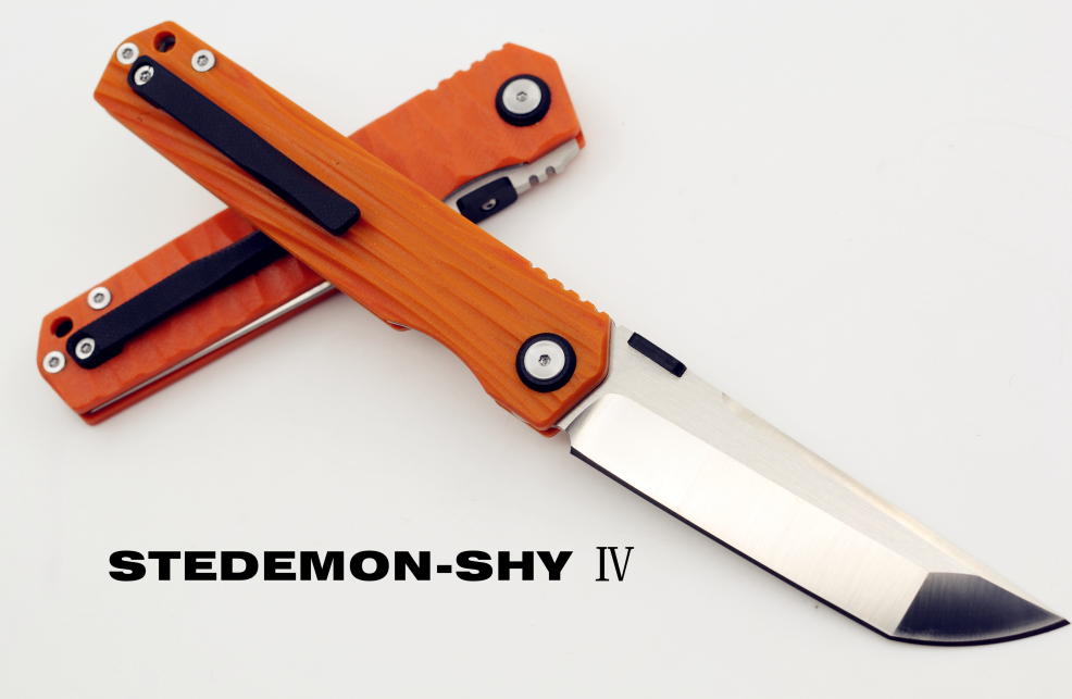 Stedemon SHY IV 02 Orange G10 Concave-Convex Handle, Drop