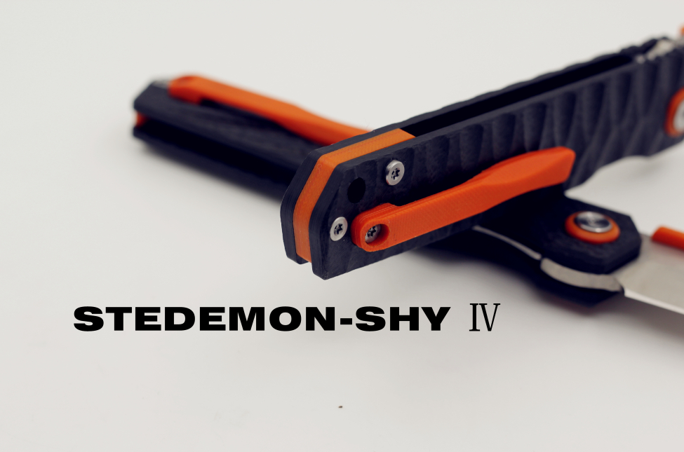 Stedemon SHY IV 04 Black G10 Concave-Convex Handle, Drop