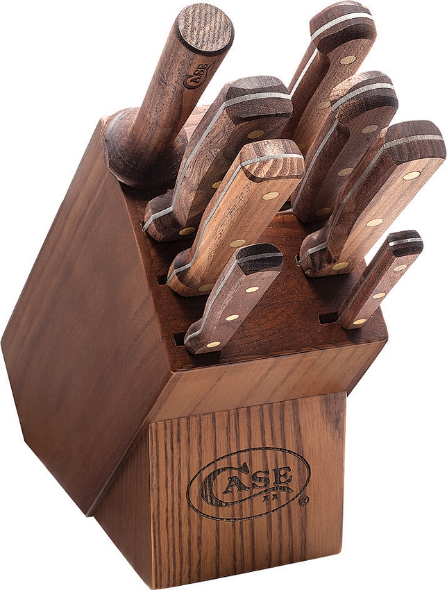Case Cutlery Nine Piece Block Set Walnut