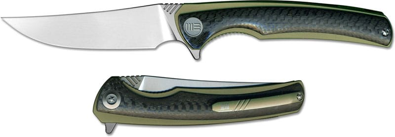We Knife Co Ltd Ti Liner Gold with CF Scale